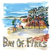 Bay of Fires - Torres Del Paine - Akvarel af kendt vandresti - Akvarel af Frits Ahlefeldt
