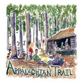 Appalachian Trail- Akvarel af kendt vandresti - Akvarel af Frits Ahlefeldt