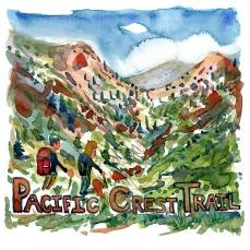 Pacific Crest Trail - Akvarel af kendt vandresti - Akvarel af Frits Ahlefeldt