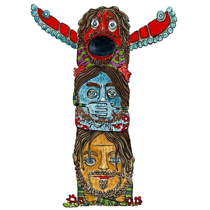 Totem Tegning til artikel af Anders Lund Madsen - illustration af Frits Ahlefeldt