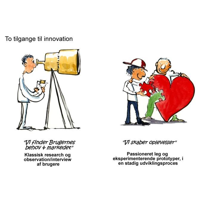 En researcher v. kikkert og to ved et hjerte - illustration af Frits Ahlefeldt